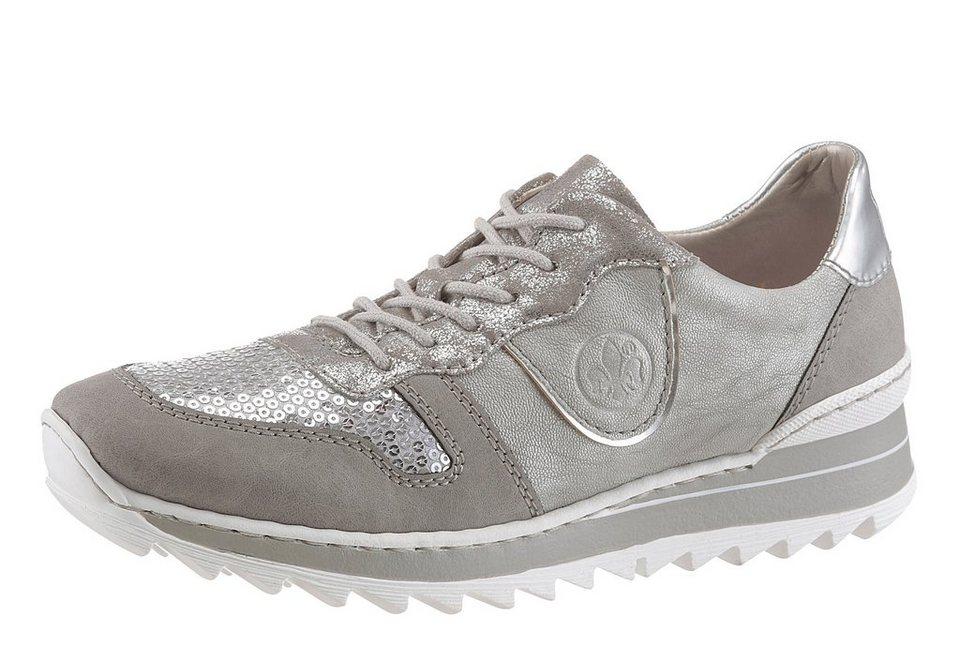 Rieker Sneaker in angesagtem Athleisure-Trend in grau-silberfarben