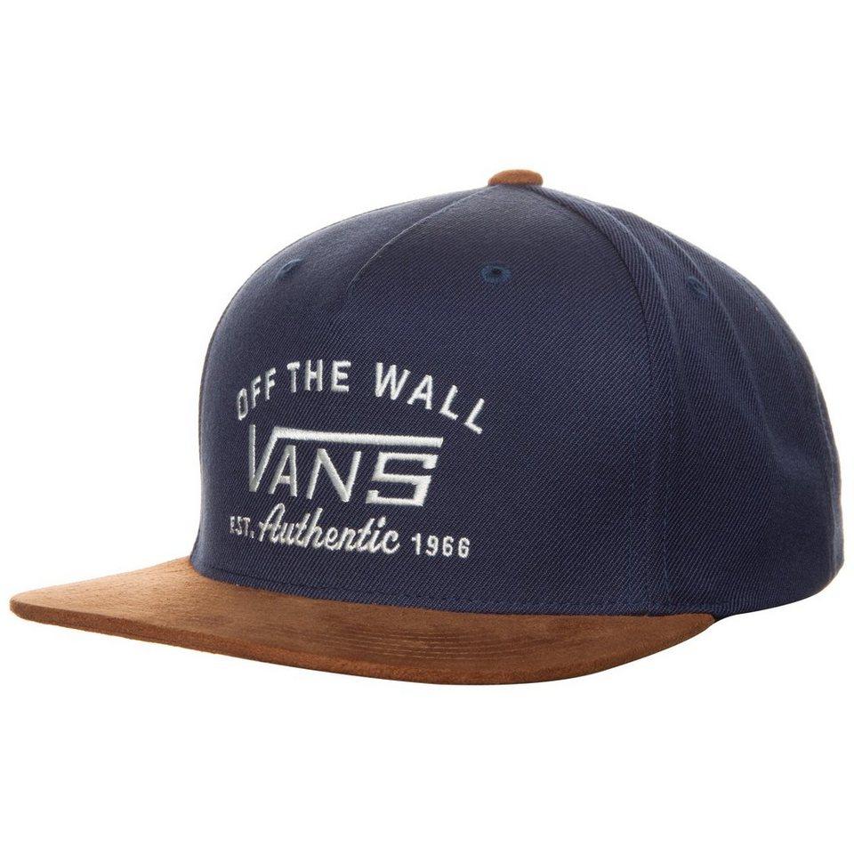 VANS Authentic Starter Snapback Cap in dunkelblau / braun