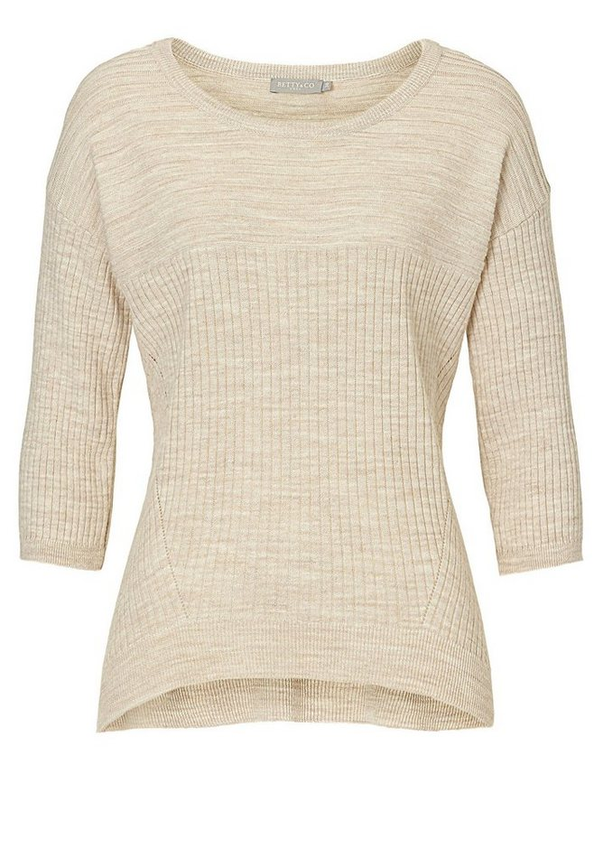 Betty&Co Strickpullover in Middle Cream Melange