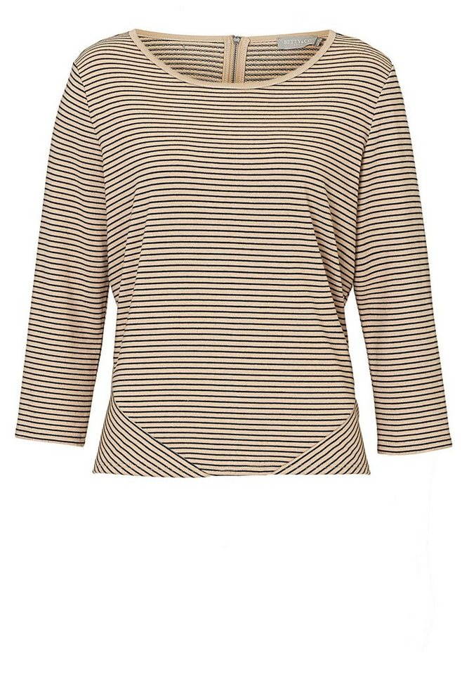 Betty&Co Sweatshirt in Camel/Black - Braun