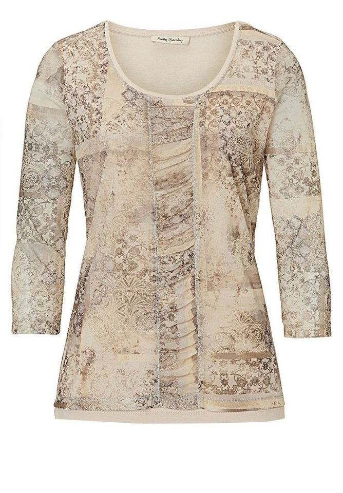 Betty Barclay Shirt in Beige/Grau - Bunt