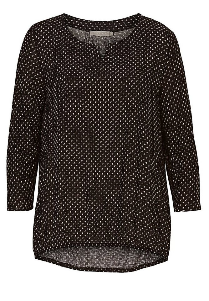 Betty&Co Shirt in Black-Nature - Grau