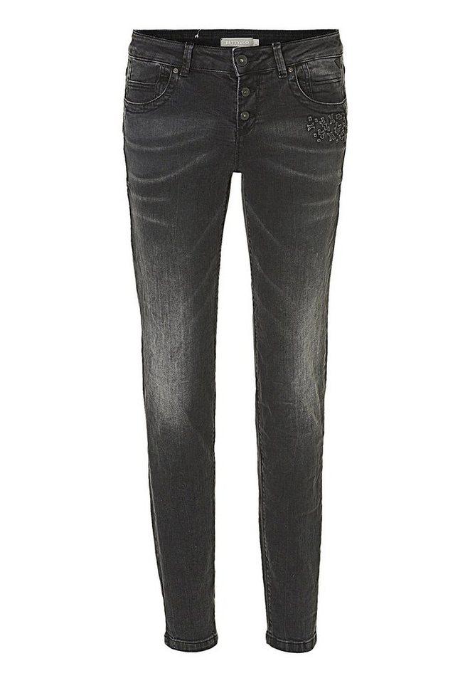 Betty&Co Jeans in Schwarz/Schwarz - Gr
