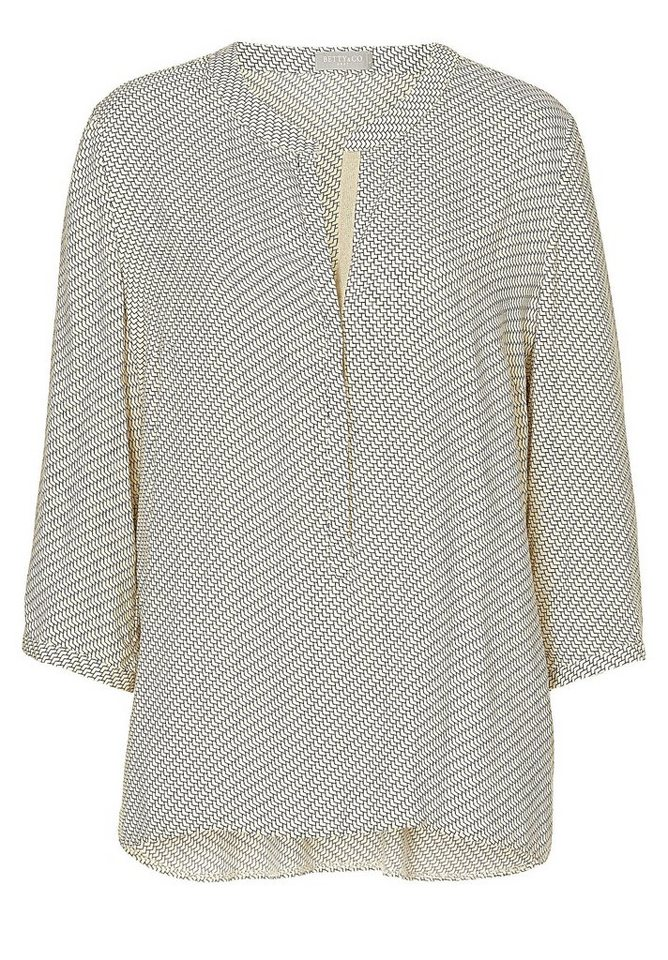 Betty&Co Bluse in Apricot/Black - Bunt