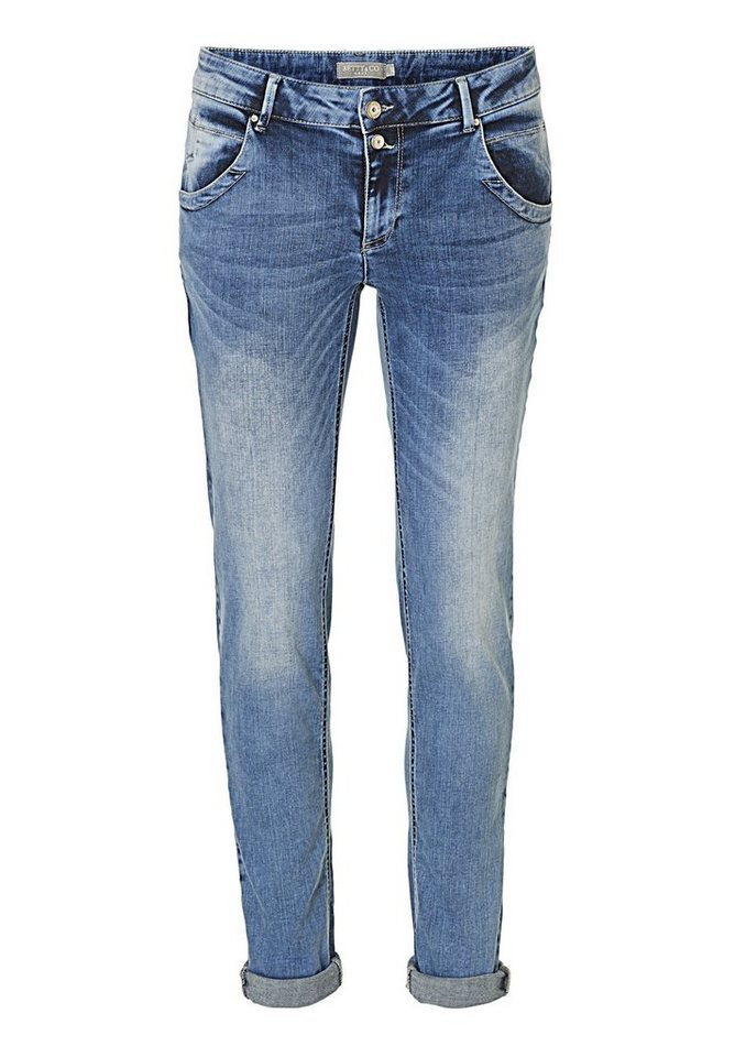 Betty&Co Jeans in Blau - Bunt