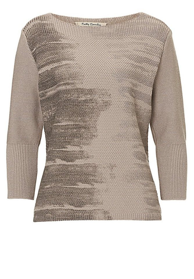 Betty Barclay Strickpullover in Taupe/Grey - Bunt