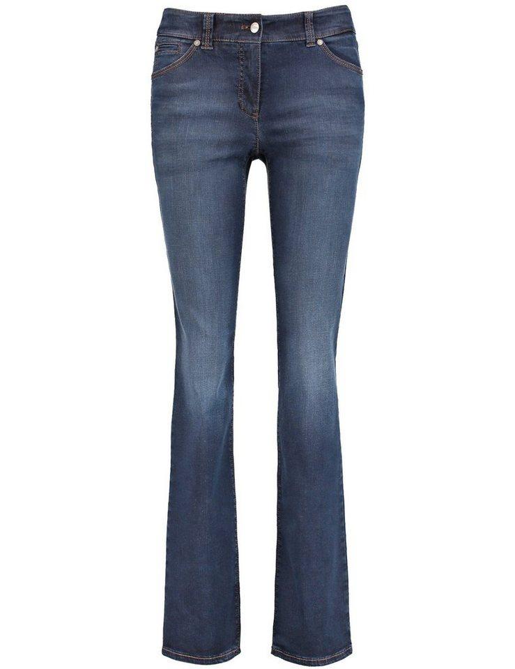 Gerry Weber Hose Jeans lang »5-Pocket Hose Roxane« in Dunkelblau Denim