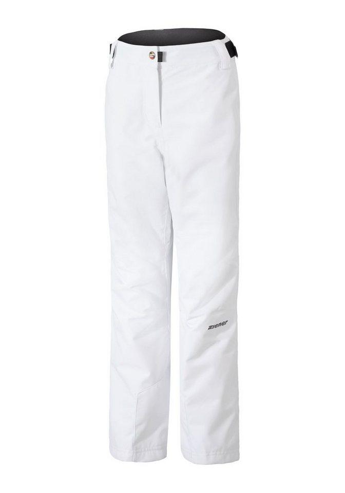 Ziener Hose »ARE jun (pant ski)« in white