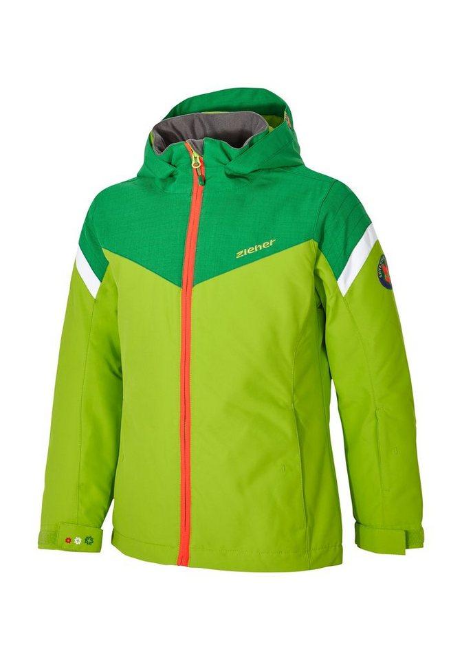 Ziener Jacke »AMATIE jun (jacket ski)« in lime green