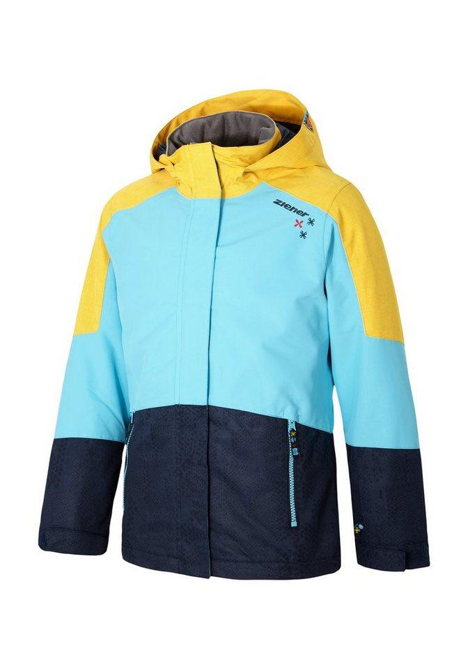 Ziener Jacke »ABLICA jun (jacket ski)« in navy animal