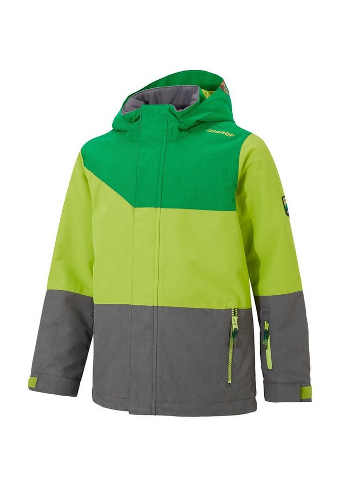 Ziener Jacke »AGNOLO jun (jacket ski)« in grey splash