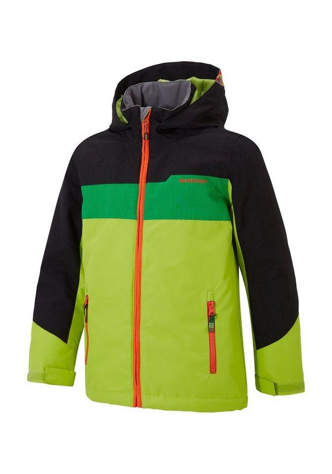 Ziener Jacke »AFURO jun (jacket ski)« in lime green