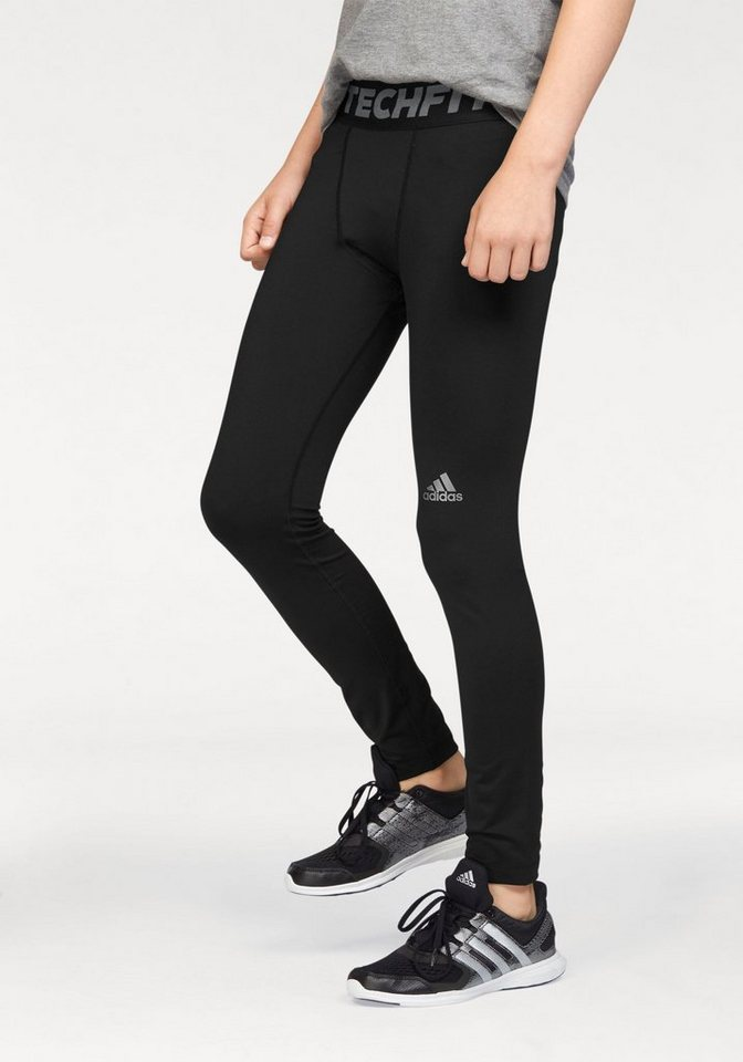adidas Performance Funktionstights »TECH FIT TIGHT« in schwarz
