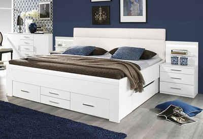 Funktionsbett 180x200 weiß  Stauraumbett online kaufen » Bett mit Regal | OTTO