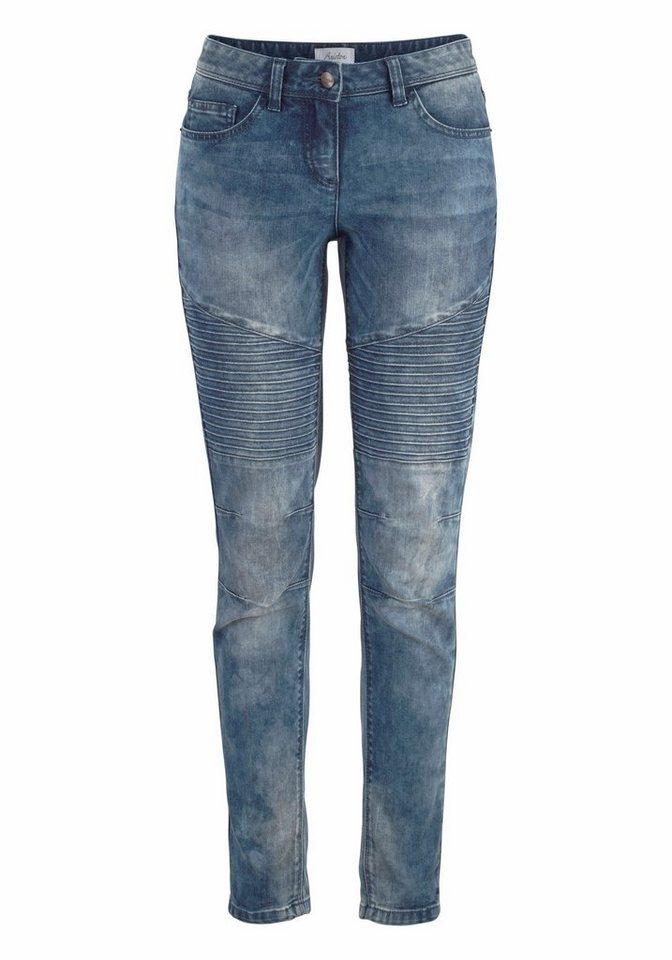 Aniston 5-Pocket-Jeans mit Bieseneinsatz in blue