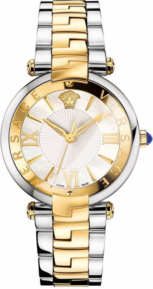 Versace Schweizer Uhr »RÊVIVE, VAI050016« in silberfarben-goldfarben