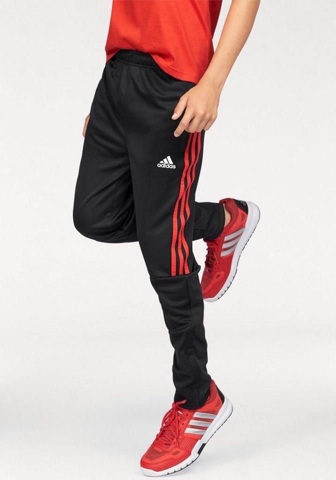 adidas Performance Trainingshose »TIRO PANT 3 STRIPES« in schwarz-rot