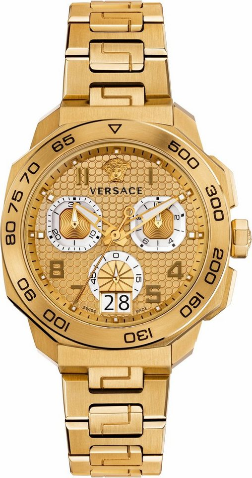 Versace Chronograph »DYLOS, VQC040015« in goldfarben