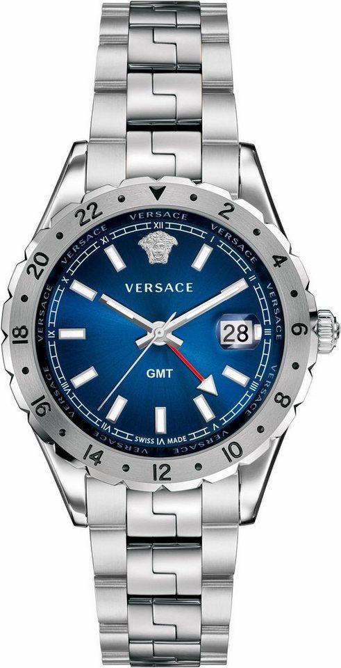 Versace Schweizer Uhr »HELLENYIUM GMT, V12020015« in silberfarben