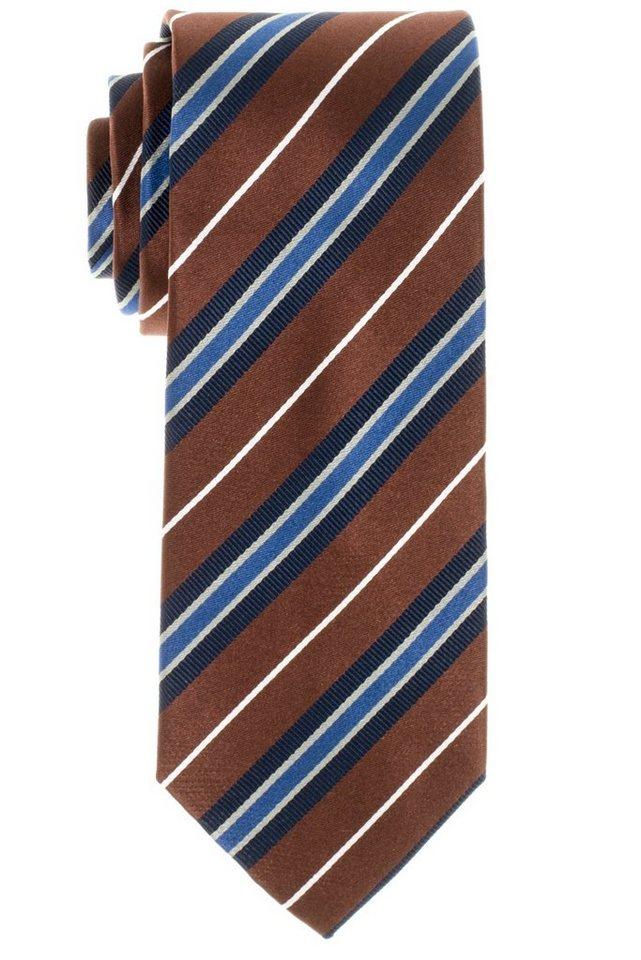 ETERNA Krawatte »breit« in beigebraun