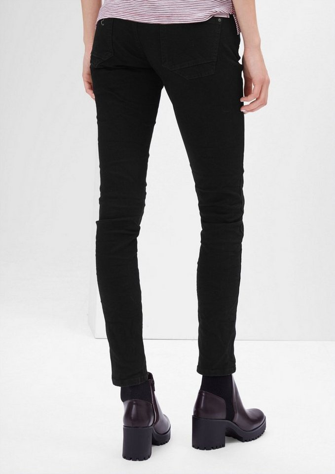 s.Oliver RED LABEL Shape Superskinny: Stretch-Jeans in black denim stretch