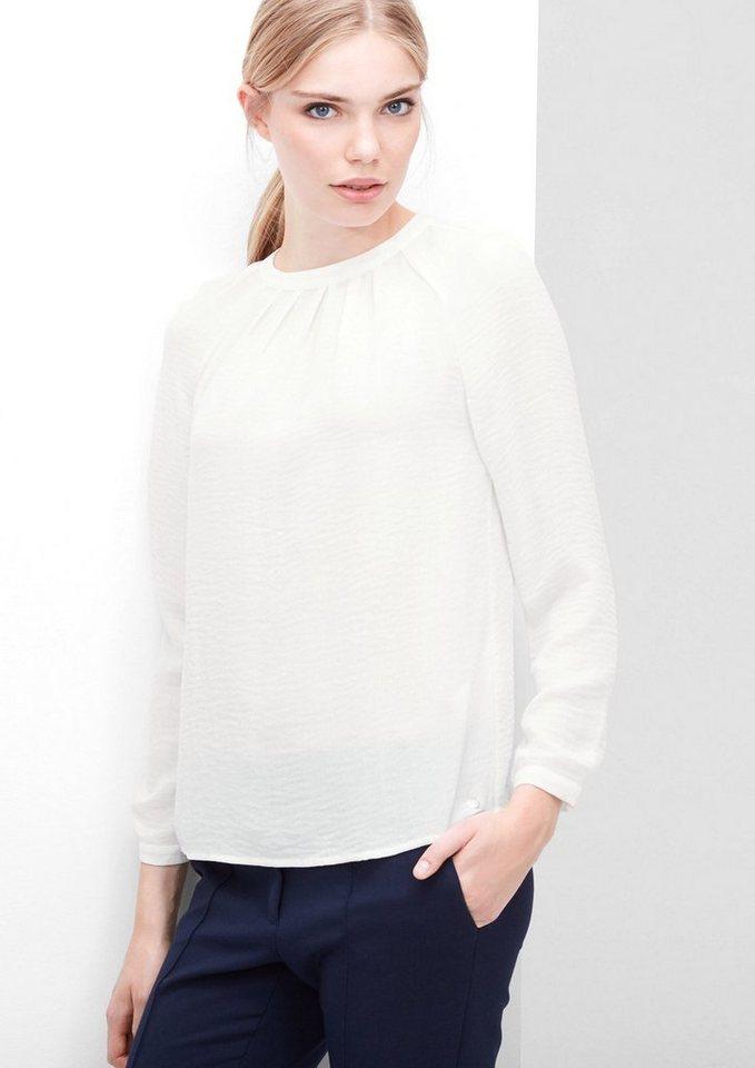 s.Oliver RED LABEL Feine Crêpe-Bluse mit Falten in creme