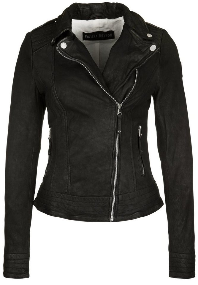 Freaky Nation Lederjacke »IDEAL 1« in black
