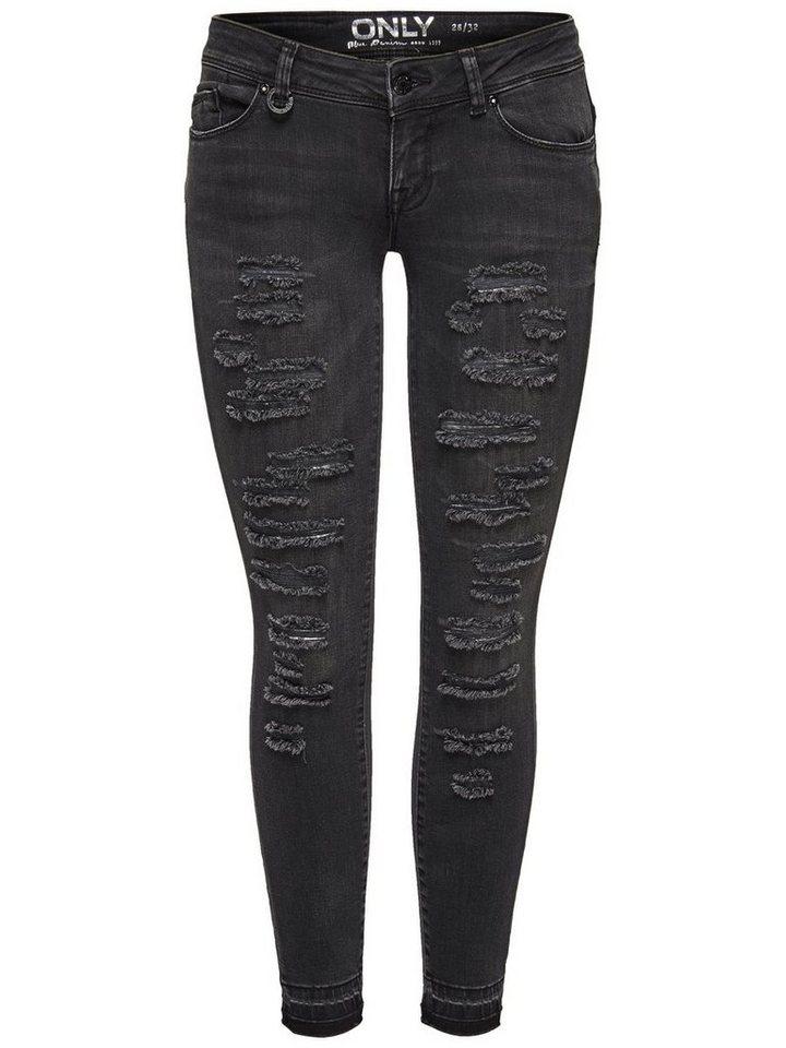 Only Coral sl Ankle Skinny Fit Jeans in Dark Grey Denim