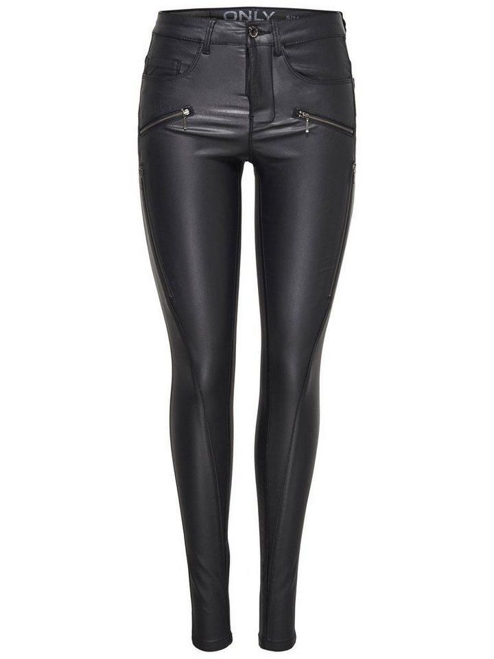 Only Royal reg rock coated Skinny Fit Jeans in Black
