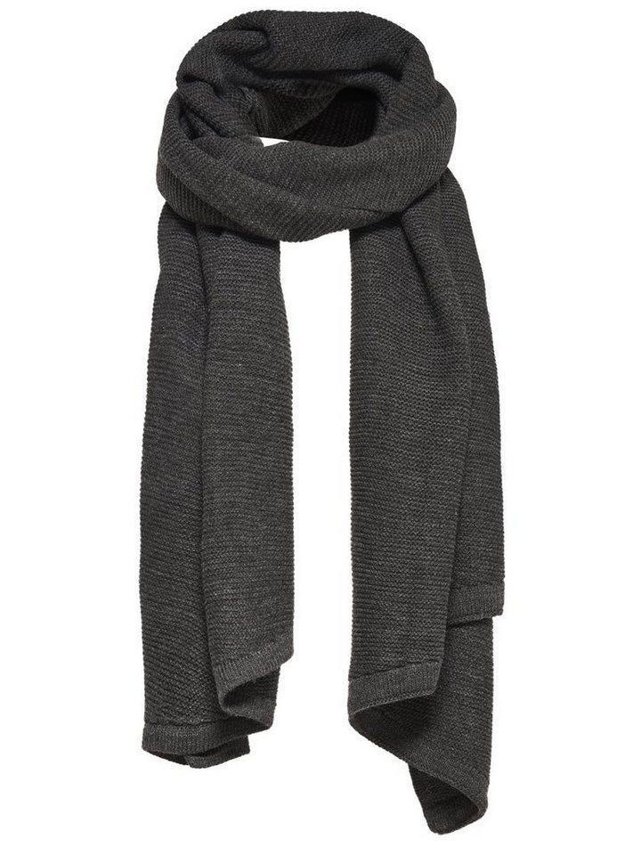 Only Einfarbiger Schal in Dark Grey Melange