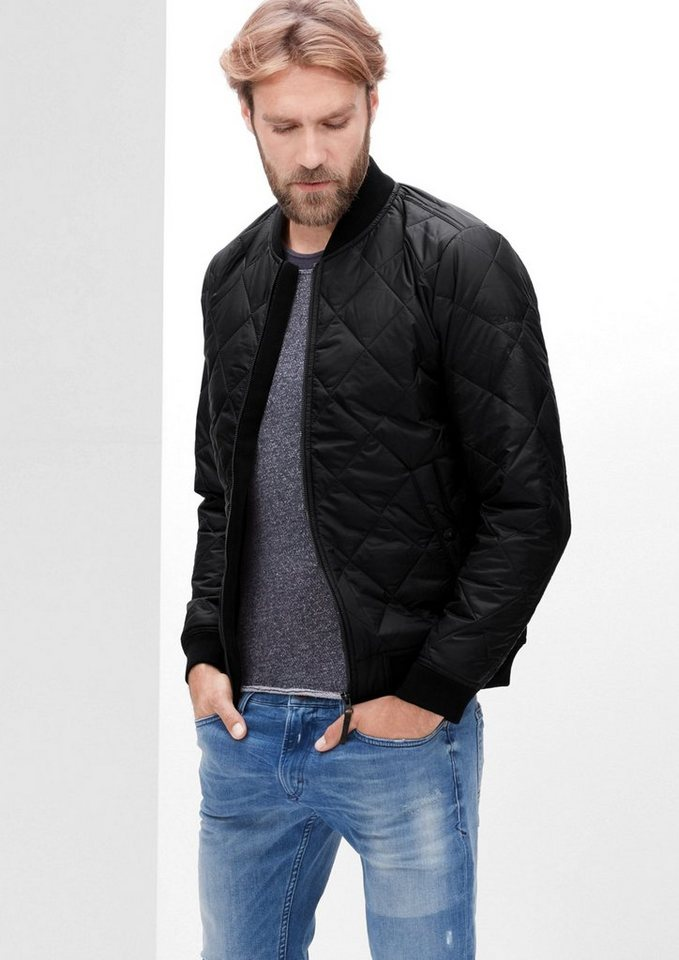 s.Oliver RED LABEL Leichter Steppblouson mit Thermore in black