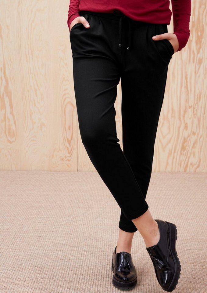 s.Oliver RED LABEL Jogging Pants aus Viskosestretch in black
