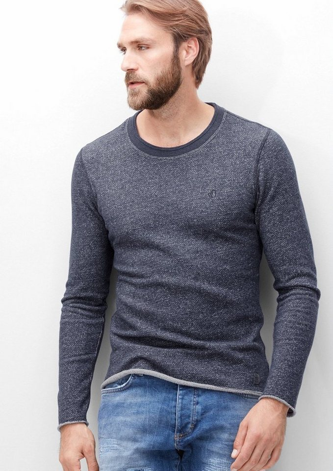 s.Oliver RED LABEL Meliertes Sweatshirt in deep sea melange