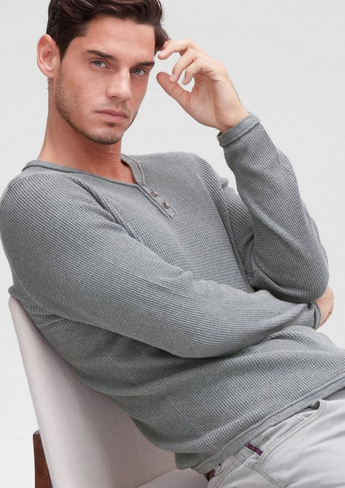 s.Oliver RED LABEL Pullover aus Strukturstrick in blend grey