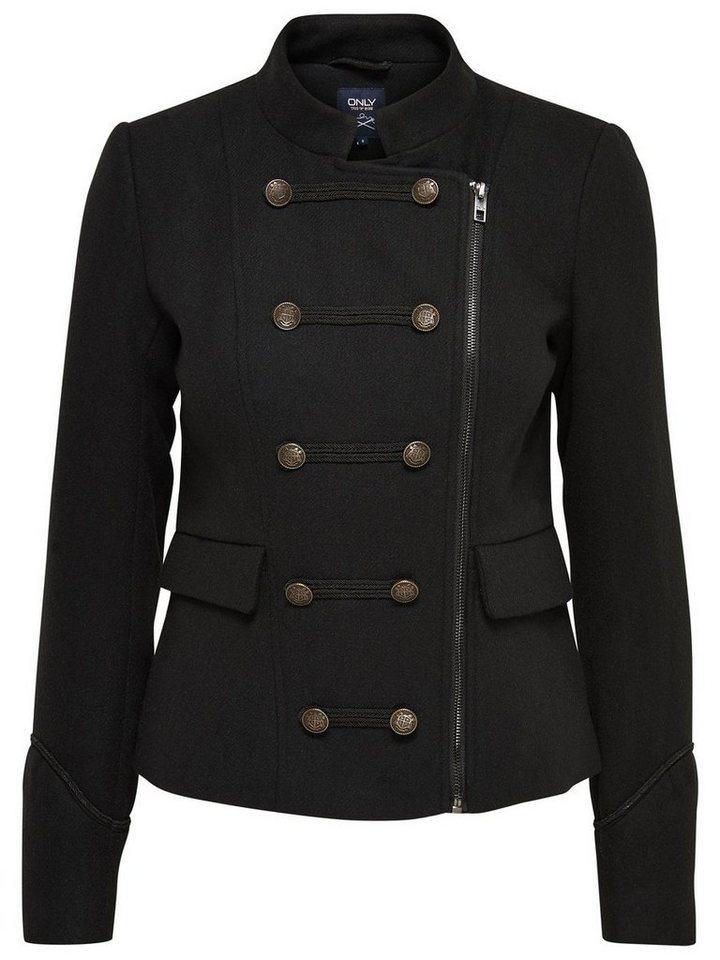 Only Woll- Jacke in Black
