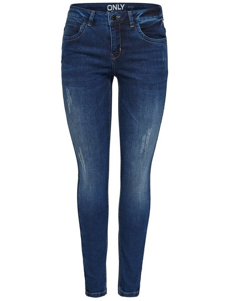 Only Kendell reg ankle Skinny Fit Jeans in Dark Blue Denim