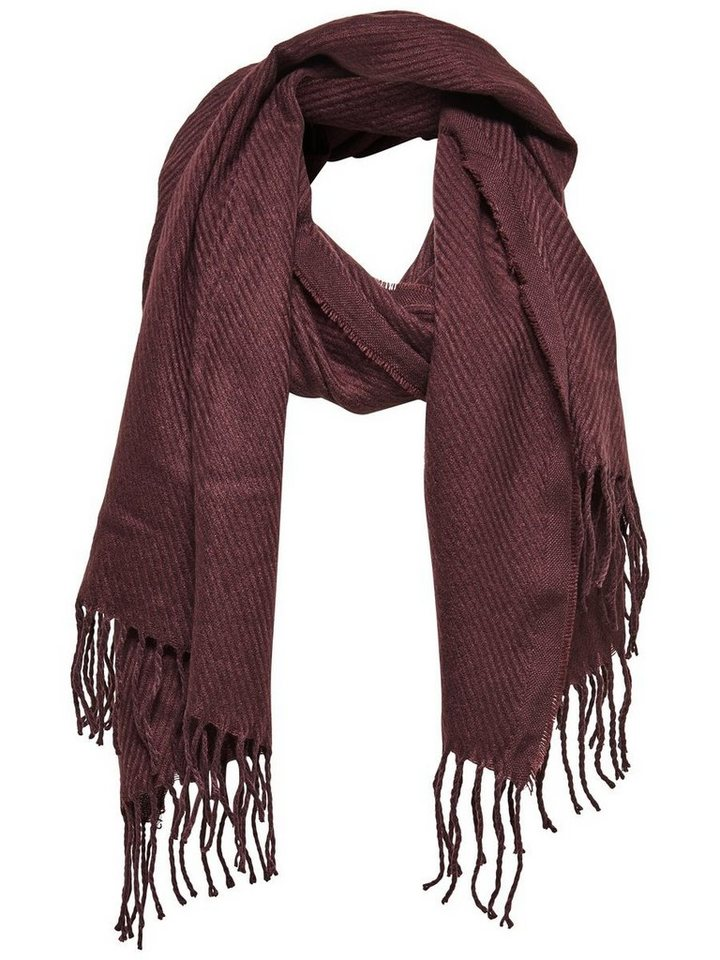 Only Einfarbiger Schal in Fudge