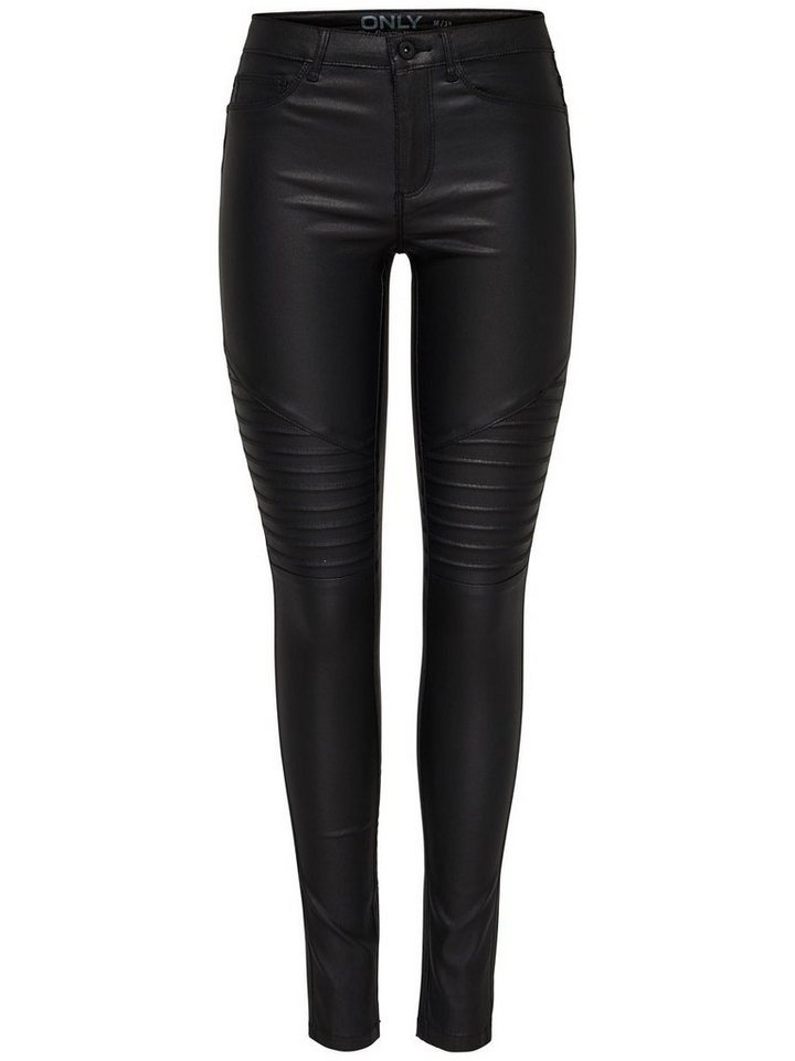 Only New royal coated biker Skinny Fit Jeans in Black