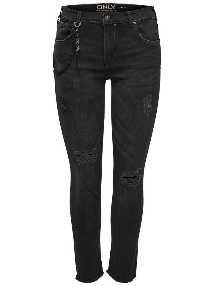 Only Gemma Girlfriend Slim Fit Jeans in Black