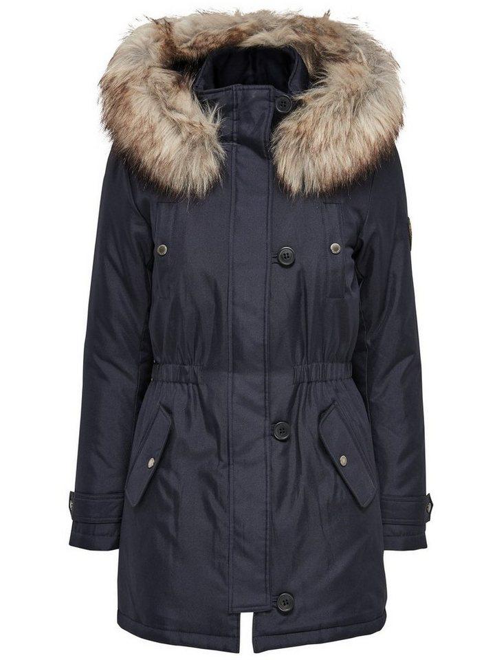 Only Long Parka coat in Night Sky