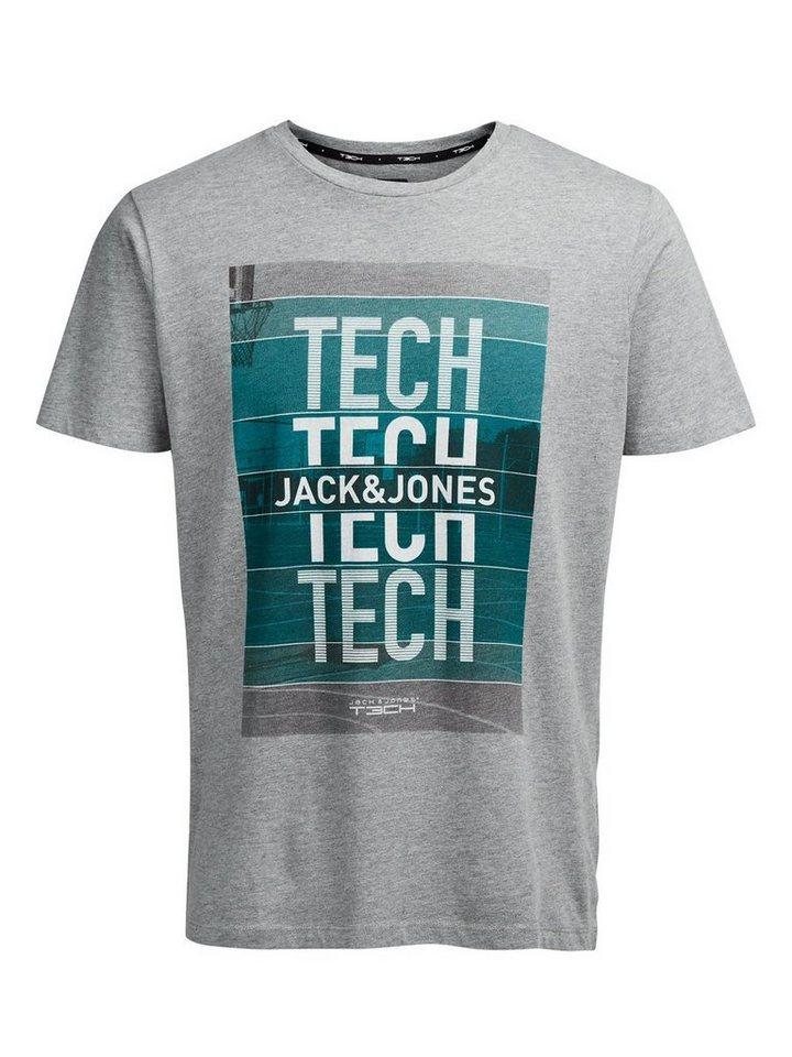 Jack & Jones Quick Dry T-Shirt in Light Grey Melange