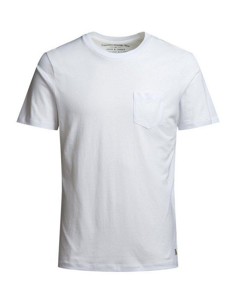 Jack & Jones Einzelne Brusttasche T-Shirt in White