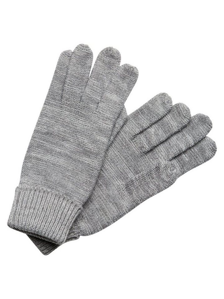 Jack & Jones Strick- Handschuhe in Light Grey Melange