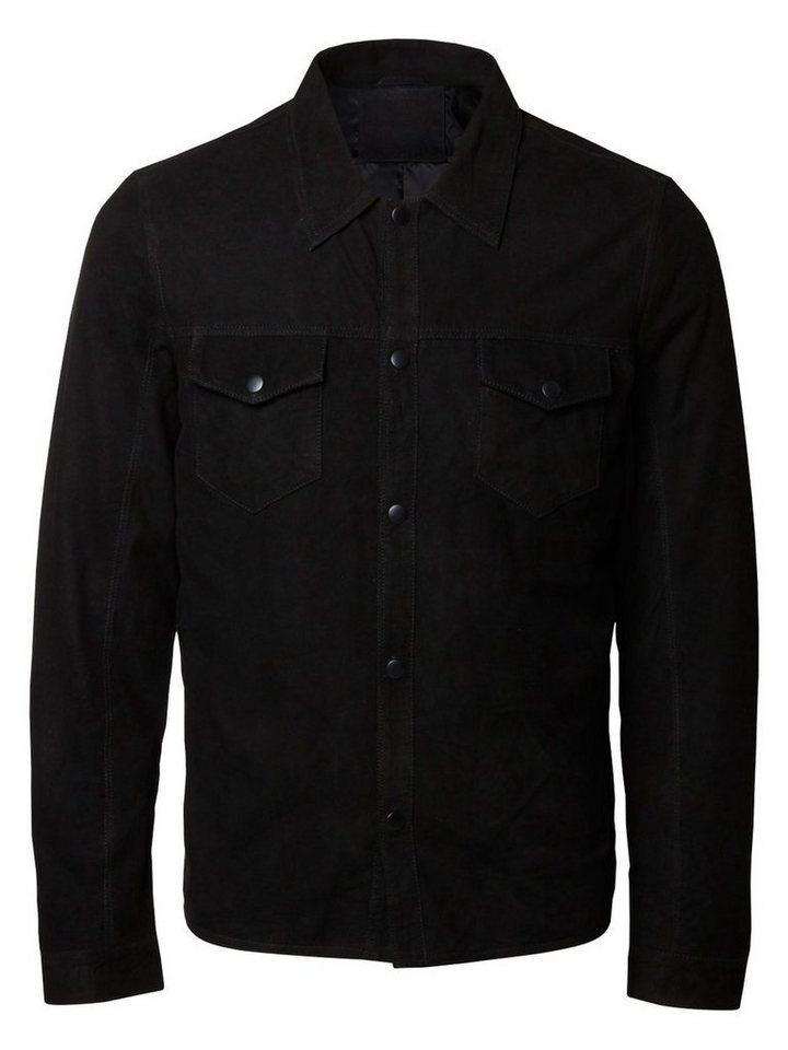 Selected Wildleder- Jacke in Black