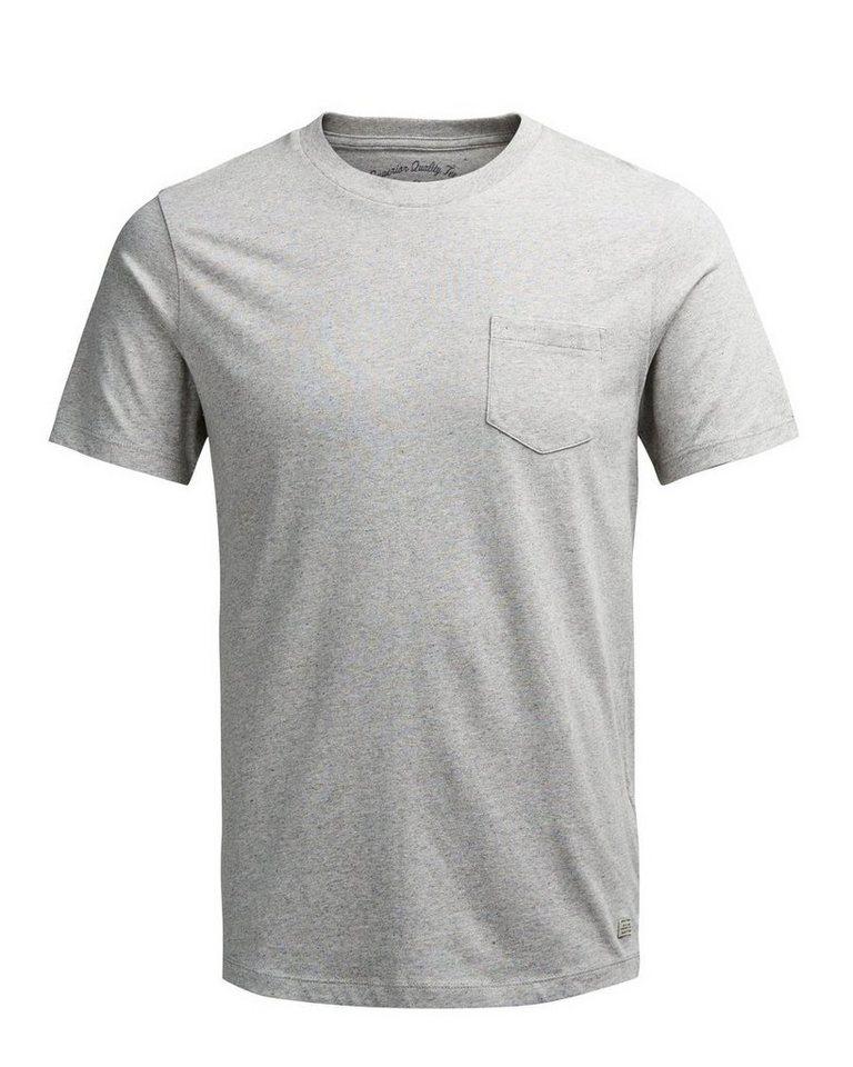 Jack & Jones Einzelne Brusttasche T-Shirt in Light Grey Melange