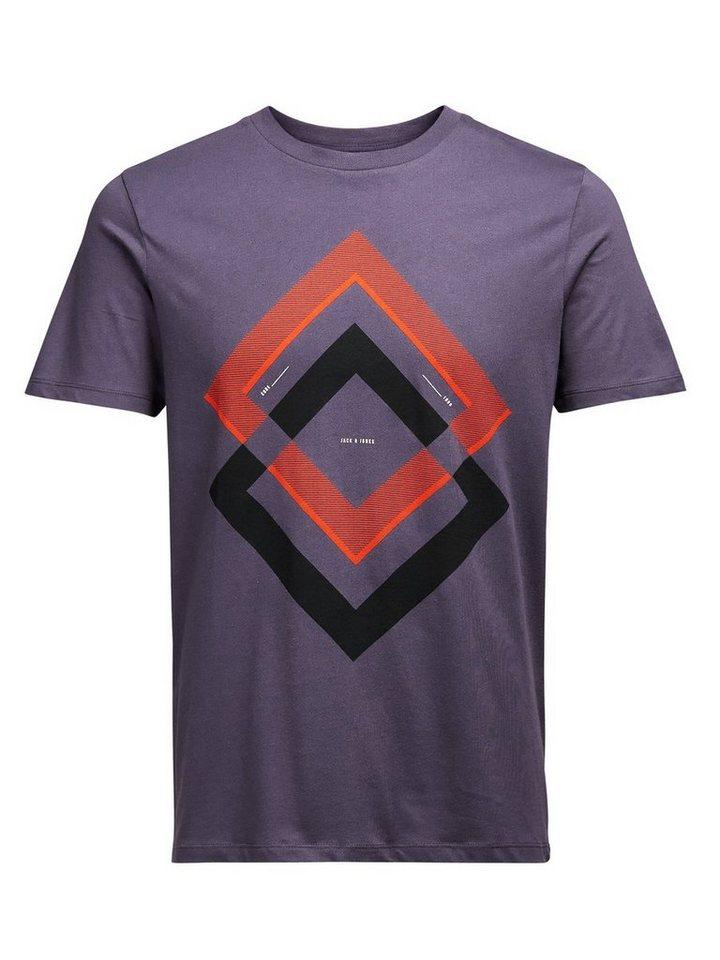 Jack & Jones Farb-Pop-Effekt T-Shirt in Nightshade
