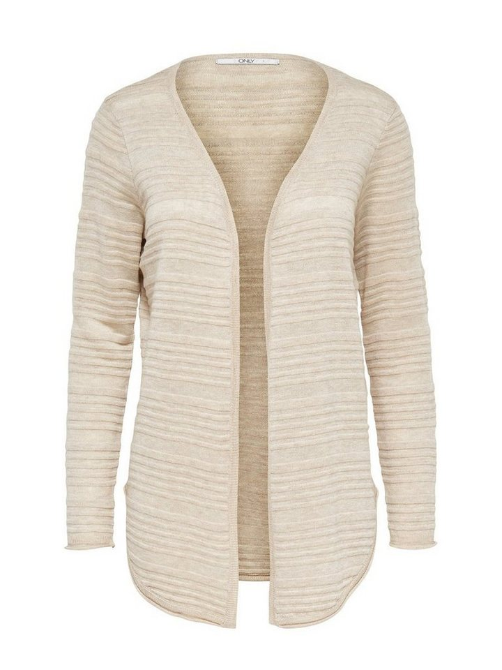 Only Struktur- Strick-Cardigan in Oatmeal
