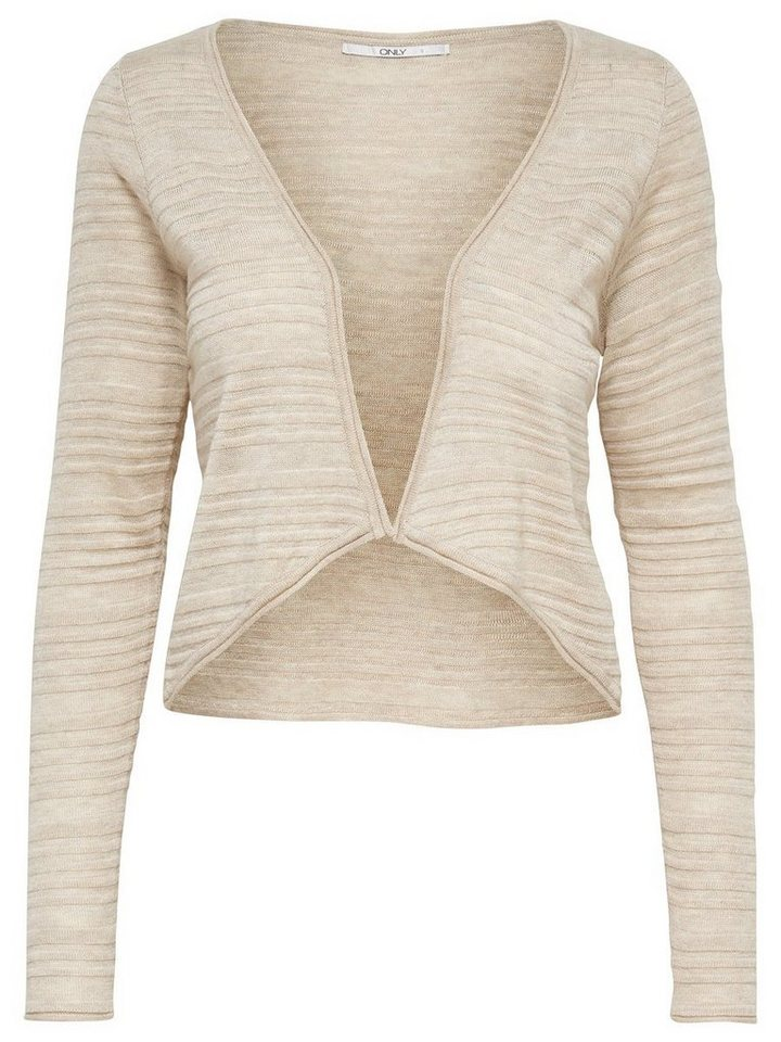 Only Kurzer Strick-Cardigan in Oatmeal