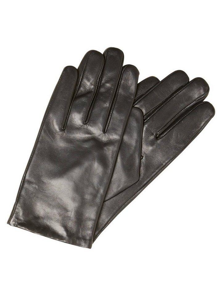 Vero Moda Leder- Handschuhe in Black