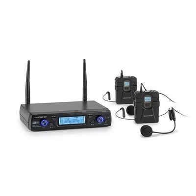 Auna Mikrofon »UHF200C-HB 2-Kanal UHF-Funkmikrofon-Set Receiver Handmikro + Transmitter + Headset« (Set)